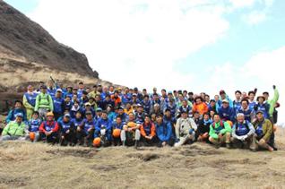 坊ガツル湿原に隣接する平治岳における高山植物の保護および登山道の整備活動に参加
