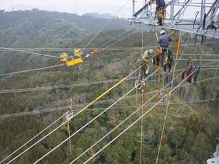 移線工法による多径間スライド移線工法